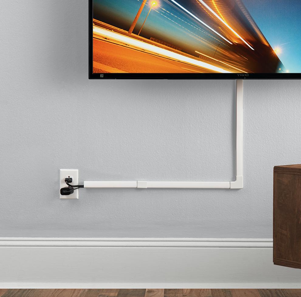 Comment cacher fils électriques mur